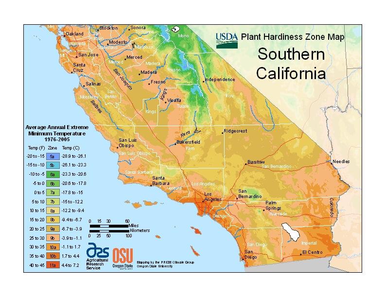 Orange County Hardiness Zone Map